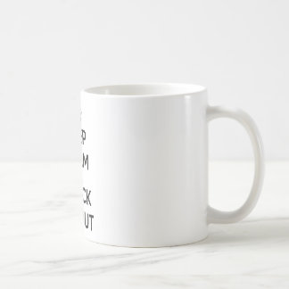 Keep calm and check me out basic white mug