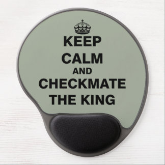 Keep Calm and Checkmate The King Gel Mouse Pad