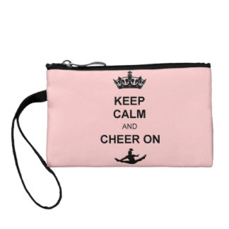 Keep Calm and Cheer Coin Purses