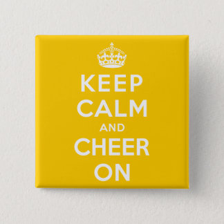 Keep Calm and Cheer On 15 Cm Square Badge