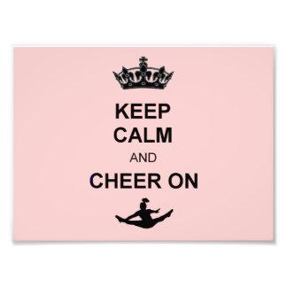 Keep Calm and Cheer on Art Photo