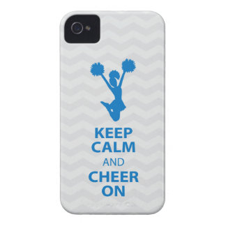KEEP CALM and CHEER ON - Blue - iPhone4/4s caseEP iPhone 4 Cover