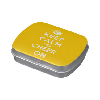 Keep Calm and Cheer On Candy Tin