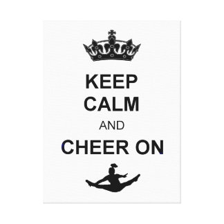 Keep Calm and Cheer on Canvas Print