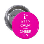 Keep Calm and Cheer On, Cheerleader Pink Badges