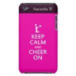 Keep Calm and Cheer On, Cheerleader Pink Case-Mate iPod Touch Case