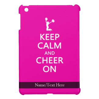 Keep Calm and Cheer On, Cheerleader Pink iPad Mini Case