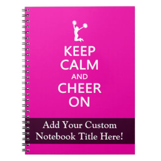 Keep Calm and Cheer On, Cheerleader Pink Notebooks