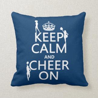 Keep Calm and Cheer On (cheerleaders)(any color) Cushion