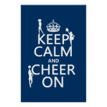 Keep Calm and Cheer On (cheerleaders)(any colour) Posters
