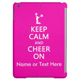 Keep Calm and Cheer On, Custom Cheerleader Pink iPad Air Cover