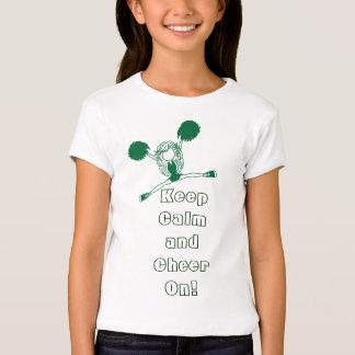 Keep Calm and Cheer On   Dark Green T-Shirt