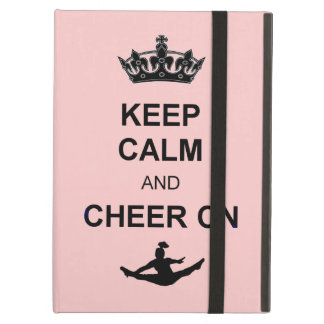 Keep Calm and Cheer on iPad Air Cover