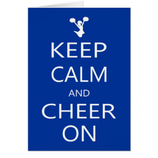Keep Calm and Cheer On Note Card