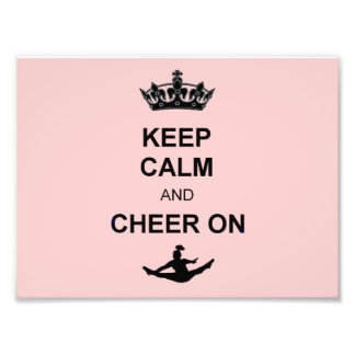 Keep Calm and Cheer on Photographic Print