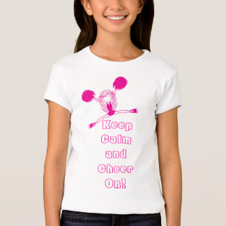 Keep Calm and Cheer On Pink Kids Shirt