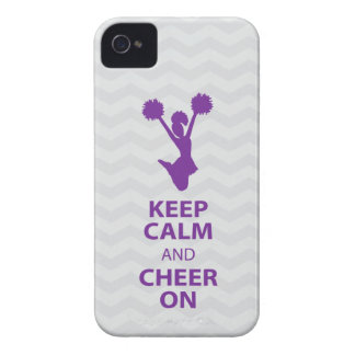 KEEP CALM and CHEER ON - Purple - iPhone4/4s case iPhone 4 Case-Mate Cases