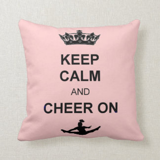 Keep Calm and Cheer on square pillow