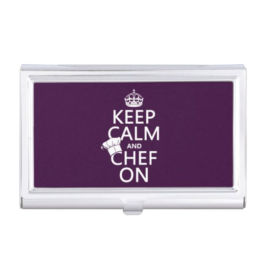 Keep Calm and Chef On Business Card Holder