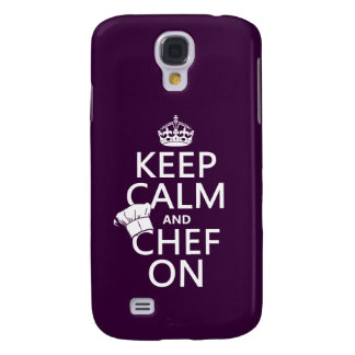 Keep Calm and Chef On (customizable) Galaxy S4 Case