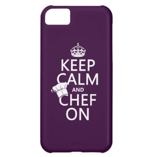 Keep Calm and Chef On customizable iPhone 5C Cases