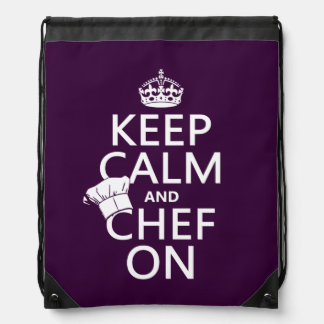 Keep Calm and Chef On Drawstring Bags