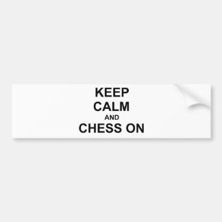 Keep Calm and Chess On gray blue black Bumper Sticker