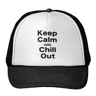 Keep Calm and Chill Out Hats