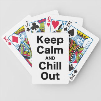 Keep Calm and Chill Out Bicycle Poker Cards