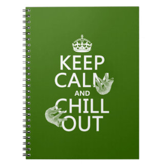 Keep Calm and Chill Out (sloth) (any color) Notebook