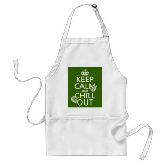 Keep Calm and Chill Out (sloth) (any color) Standard Apron