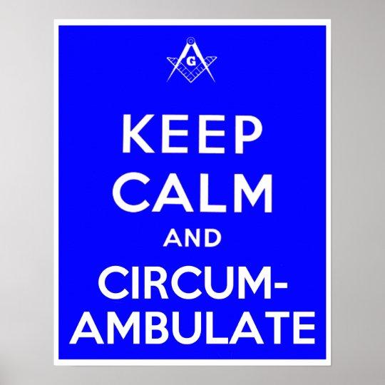 Keep Calm and Circumambulate Poster