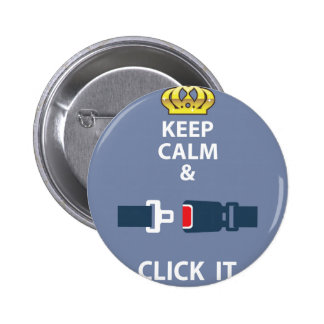 Keep Calm and Click It 6 Cm Round Badge