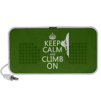 Keep Calm and Climb On (customizable color) PC Speakers