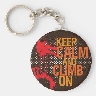 Keep Calm and Climb On Rock Climbing Keychain