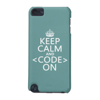 Keep Calm and <Code> On - all colours iPod Touch (5th Generation) Covers