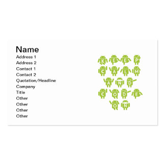 Keep Calm And Code On Software Developer Bugdroid Business Card Template