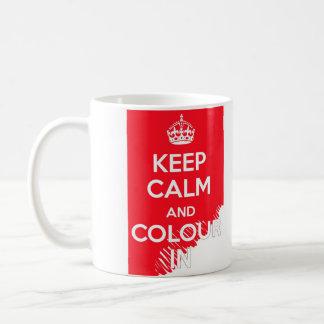 KEEP CALM AND COLOUR IN COFFEE MUG
