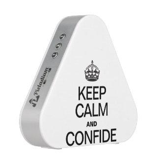 KEEP CALM AND CONFIDE BLUETOOTH SPEAKER