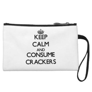 Keep calm and consume Crackers Wristlet Purse