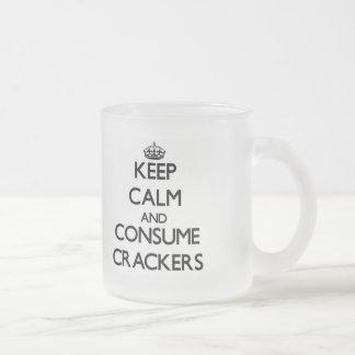 Keep calm and consume Crackers Mugs