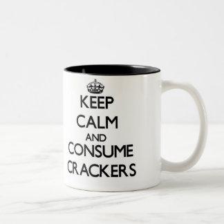 Keep calm and consume Crackers Mug