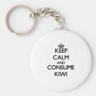 Keep calm and consume Kiwi Key Ring