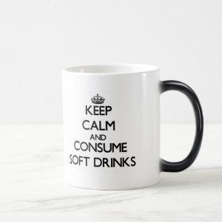 Keep calm and consume Soft Drinks Morphing Mug