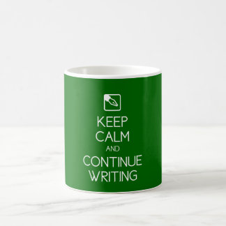 Keep Calm and Continue Writing Mug