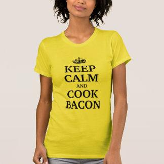 Keep calm and cook bacon tee shirt