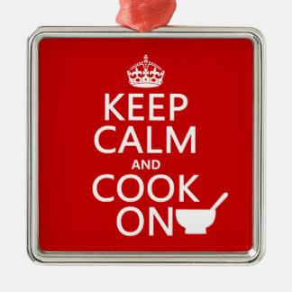 Keep Calm and Cook On Christmas Ornament