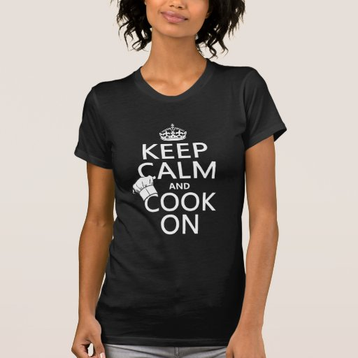 Keep Calm and Cook On (customizable colors) T-shirts