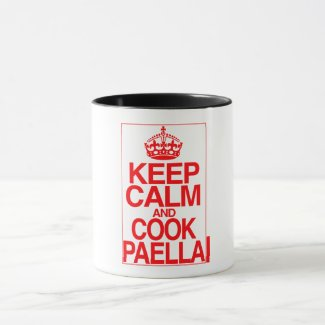 Keep Calm and Cook Paella Mug