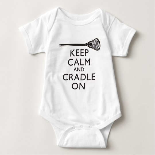 Keep Calm And Cradle On Lacrosse Baby Bodysuit